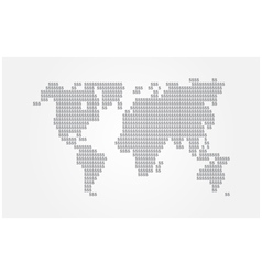 sign of dollor world map vector image vector image