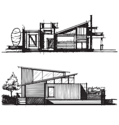 Sketch of architecture design vector image vector image