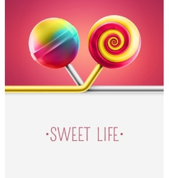 Sweet Life vector image vector image