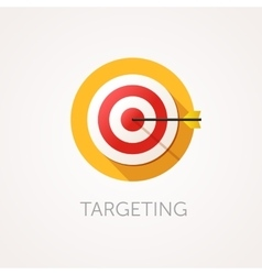Targeting Icon Flat design style with long shadow vector image vector image