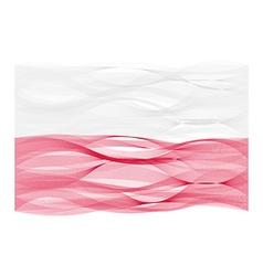 Wave line flag of poland vector