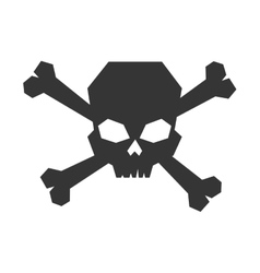 Skull caution warning vector