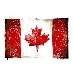 Grungy canadian flag vector
