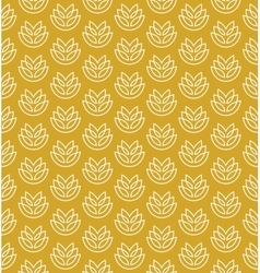 Wheat ears seamless pattern vector image