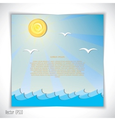 Sea landscape vector