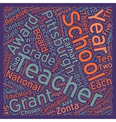 Students and teachers in pittsburgh schools vector