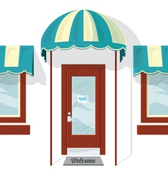 Store front door and windows vector