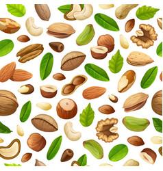 cartoon natural food seamless pattern vector image