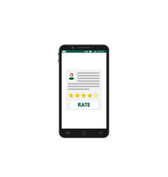 Mobile smartphone app rating vector