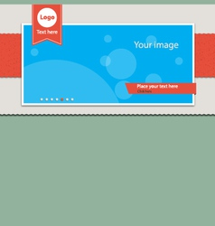 Slide banner header vector