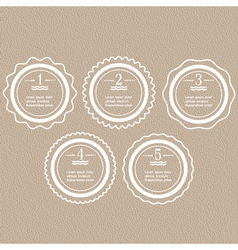 White round banners options for infographics vector image