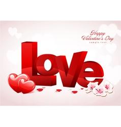 Love Valentine Background Design vector image