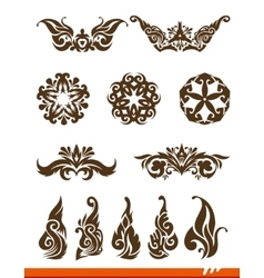Elegance decorative set vector