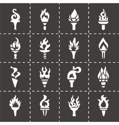 Torch icon set vector image