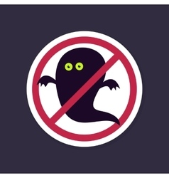 No ban or stop signs halloween ghost icon vector