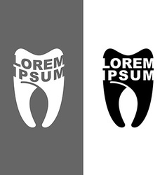 Logo for tooth dental clinic emblem for de vector