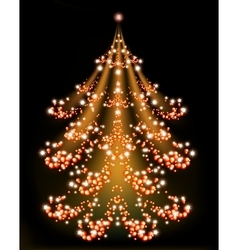 Brilliant christmas tree with a star eps10 vector