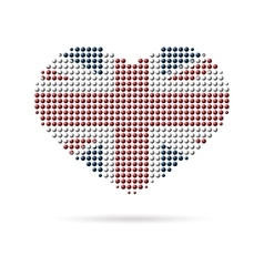 I love uk creative heart flag vector