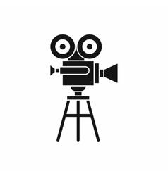 Retro film projector icon simple style vector