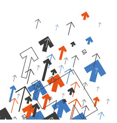 Abstract success concept growing arrows motion vector