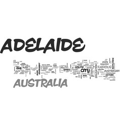 Adelaide australia text word cloud concept vector