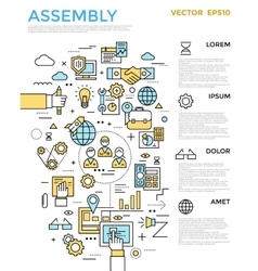 Assembly Vertical Infographic vector image vector image