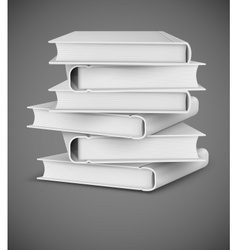 Big books pile vector