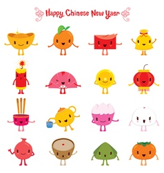Chinese new year cute cartoon design elements vector