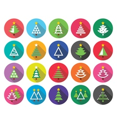 Christmas green tree - flat design icons vector image vector image