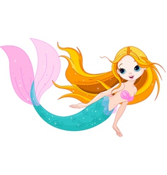 Cute Mermaid vector image vector image