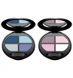 eye shadows vector image