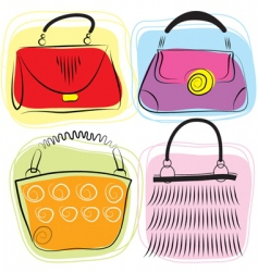 fashion bags vector image vector image