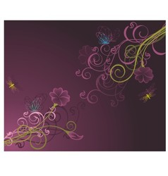 Floral background2 vector image vector image