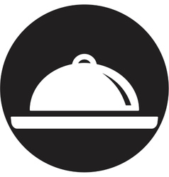 Food platter icon vector