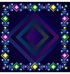 Frame template geometric vector image