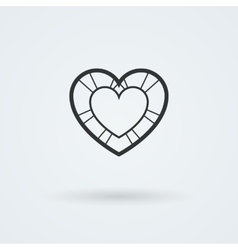 Heart Icon Single Object Symbol for vector image vector image