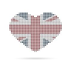 I love uk creative heart flag vector