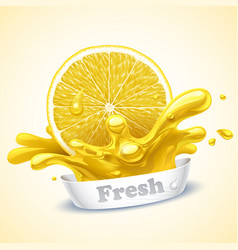 juicy lemon vector image