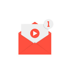 new video notification in red letter vector image vector image