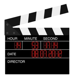 Open digital movie clapboard vector