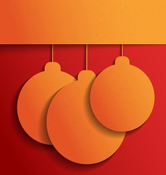 Orange Christmas balls vector image