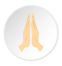 prayer icon circle vector image