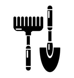 scoop hand rake icon simple style vector image