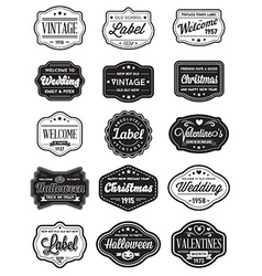 Set of Vintage Retro Styled Premium Design Labels vector image vector image