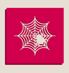 Spider on web grayscale vector