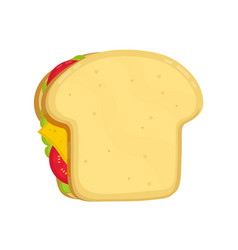 tasty sandwich modern flat style vector image vector image