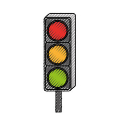 Traffic light isolated icon vector