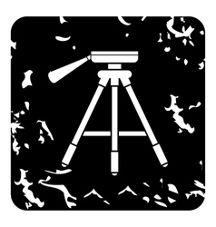 Tripod icon grunge style vector