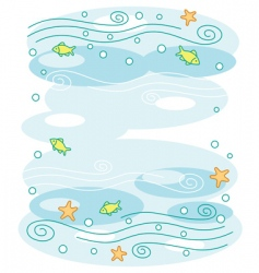 underwater world background vector image vector image