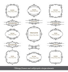Vintage filigree frames and borders set vector image vector image